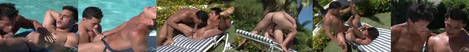 Porno z gejami na basenie