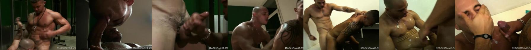 Jebanie przypakowanych facetów na siłowni